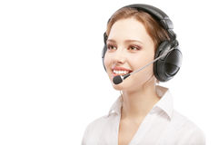 Worker of support service on connection Stock Image