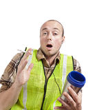 Worker Surprised Stock Images