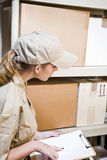 Worker taking inventory Stock Images