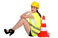 Worker taking a rest. Royalty Free Stock Photography