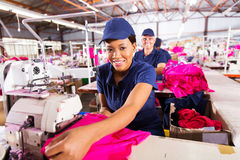Worker textile factory Stock Image