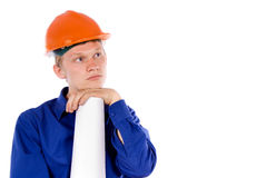 The worker think Stock Photography
