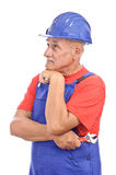 Worker thinking Stock Image