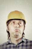 Worker thinking Royalty Free Stock Photo
