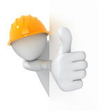 Worker, thumbs up! Royalty Free Stock Image