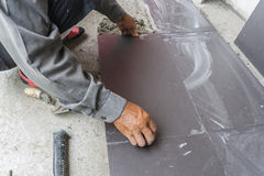 Worker tiled Royalty Free Stock Photos