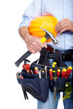 Worker with a tool belt. Stock Photos