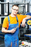Worker at tool workshop Stock Photos