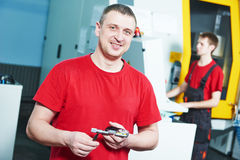 Worker at tool workshop Royalty Free Stock Images