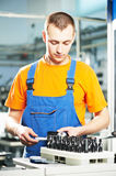 Worker at tool workshop Royalty Free Stock Image