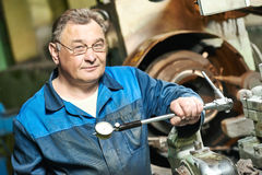 Worker at tool workshop Stock Image