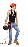 Worker with toolbelt Royalty Free Stock Photos