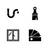 Worker toolbox. Simple Related Vector Icons Royalty Free Stock Photography
