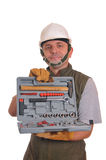 Worker with the tools Royalty Free Stock Image