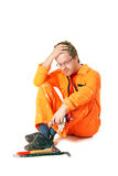 Worker with tools Royalty Free Stock Photography
