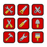 Worker tools icons Royalty Free Stock Images