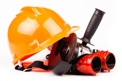 Worker tools isolated on white Stock Photos