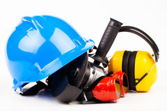 Worker tools isolated on white Stock Image