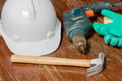 Worker tools Royalty Free Stock Image