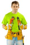 A worker with tools Royalty Free Stock Images