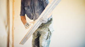 Worker with trowel Royalty Free Stock Photography