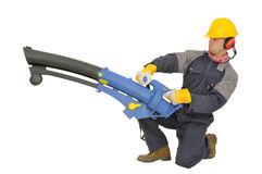 Worker in uniform Royalty Free Stock Image