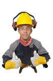 Worker in uniform Royalty Free Stock Photography