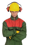 Worker in uniform Stock Photo