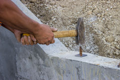 Worker Using Hammer 3 Stock Images