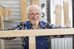 Handmade business at small furniture factory. Royalty Free Stock Images