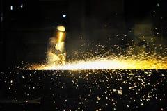 Worker using torch cutter Stock Photos