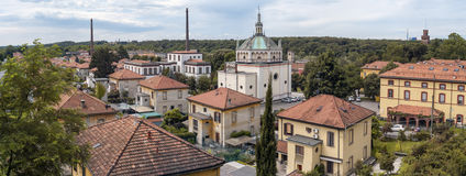 Worker village of Crespi d'Adda. Color image Stock Photo