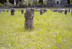 Worker village of Crespi d'Adda: the graveyard. Royalty Free Stock Images