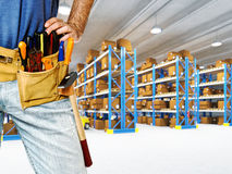 Worker in warehouse Royalty Free Stock Images