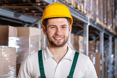 Worker in warehouse Royalty Free Stock Photos