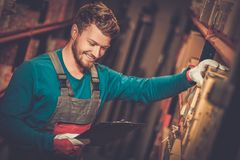 Worker on a warehouse Stock Photography