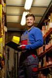 Worker on a warehouse Stock Images