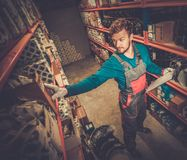 Worker on a warehouse Stock Image
