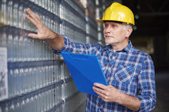 Worker in warehouse Royalty Free Stock Image