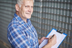 Worker in warehouse Stock Photo