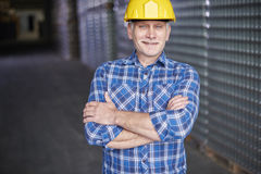 Worker in warehouse Stock Images