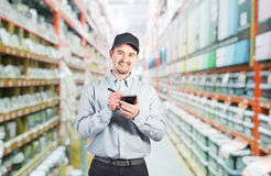 Worker in warehouse Stock Image