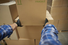 Worker in warehouse Royalty Free Stock Photography