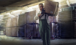 Worker at warehouse Stock Photos