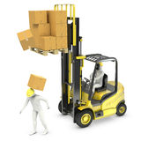 Worker was hit by cardboard Stock Images