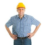 Worker wearing hard hat Stock Image