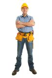 Worker wearing hard hat Stock Photography