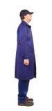 Worker wearing long robe. Stock Photo