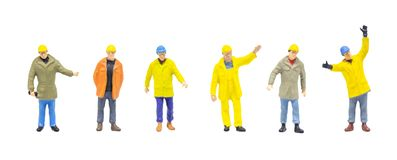 Free Worker Wearing Protective Clothes And Posing In Posture Isolated On White Background. Stock Photo - 158613260