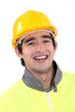 Worker wearing jacket Royalty Free Stock Photo